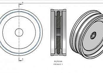 Gaxeta para cilindro pneumático